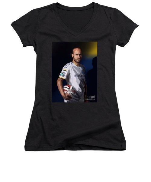 Landon Women's V-Neck T-Shirt (Junior Cut) by Jeremy Nash