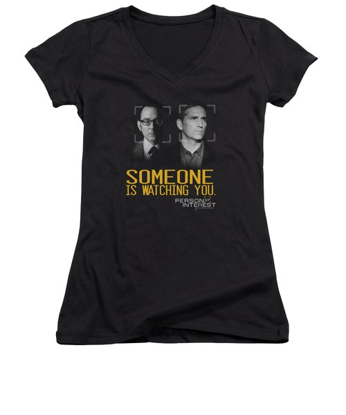 Person Of Interest - Someone Women's V-Neck T-Shirt (Junior Cut) by Brand A