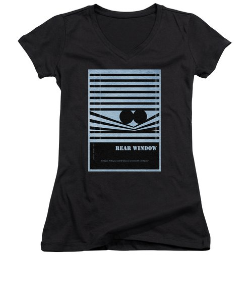 Rear Window Women's V-Neck T-Shirt (Junior Cut) by Ayse Deniz