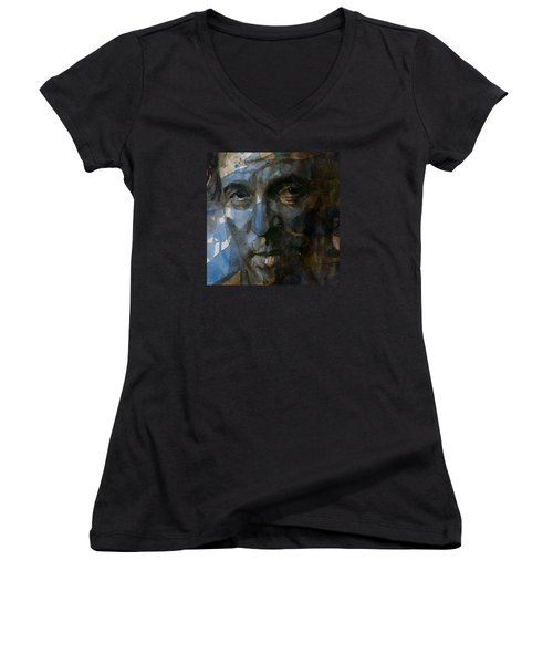 Shackled And Drawn Women's V-Neck T-Shirt (Junior Cut) by Paul Lovering