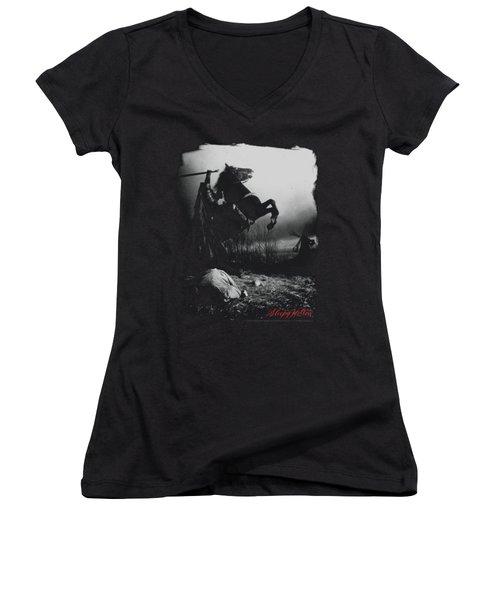 Sleepy Hollow - Foggy Night Women's V-Neck T-Shirt (Junior Cut) by Brand A