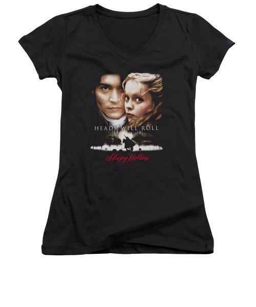 Sleepy Hollow - Heads Will Roll Women's V-Neck T-Shirt (Junior Cut) by Brand A