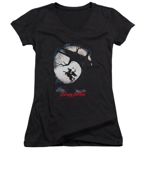 Sleepy Hollow - Poster Women's V-Neck T-Shirt (Junior Cut) by Brand A