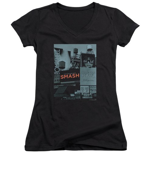Smash - Billboards Women's V-Neck T-Shirt (Junior Cut) by Brand A