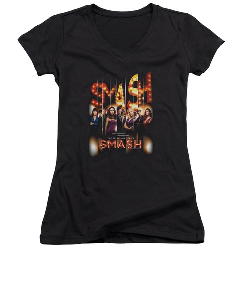 Smash - Poster Women's V-Neck T-Shirt (Junior Cut) by Brand A