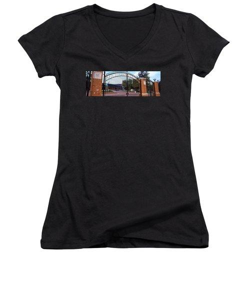 Stadium Of A University, Michigan Women's V-Neck T-Shirt (Junior Cut) by Panoramic Images