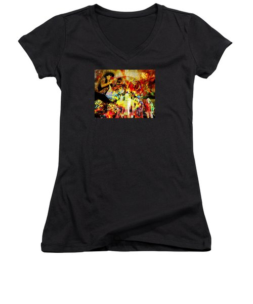 Stone Temple Pilots Original  Women's V-Neck T-Shirt (Junior Cut) by Ryan Rock Artist
