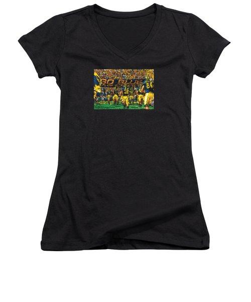 Take The Field Women's V-Neck T-Shirt (Junior Cut) by John Farr