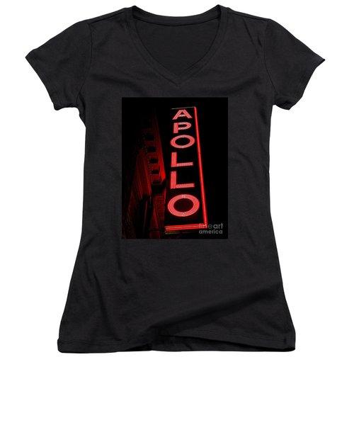 The Apollo Women's V-Neck T-Shirt (Junior Cut) by Ed Weidman