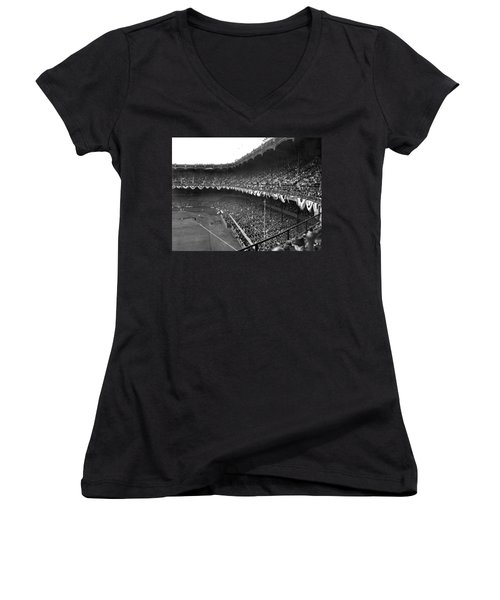 World Series In New York Women's V-Neck T-Shirt (Junior Cut) by Underwood Archives
