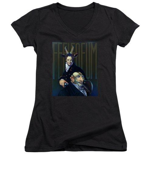 Yak Andrew Bienstjalk Women's V-Neck T-Shirt (Junior Cut) by Patrick Anthony Pierson