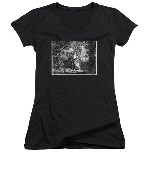 Atalanta And Meleager Women's V-Neck T-Shirt (Junior Cut) by Granger
