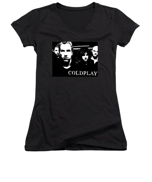 Coldplay Women's V-Neck T-Shirt (Junior Cut) by Paula Sharlea