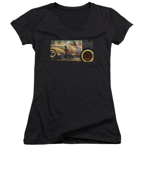 Maybe Maybe Not Women's V-Neck T-Shirt (Junior Cut) by Patrick Anthony Pierson