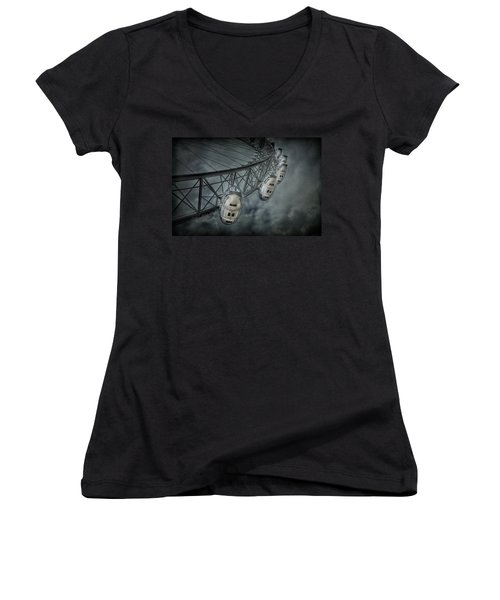 More Then Meets The Eye Women's V-Neck T-Shirt (Junior Cut) by Evelina Kremsdorf