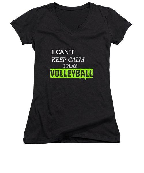 I Play Volleyball Women's V-Neck T-Shirt (Junior Cut) by Meli Mel