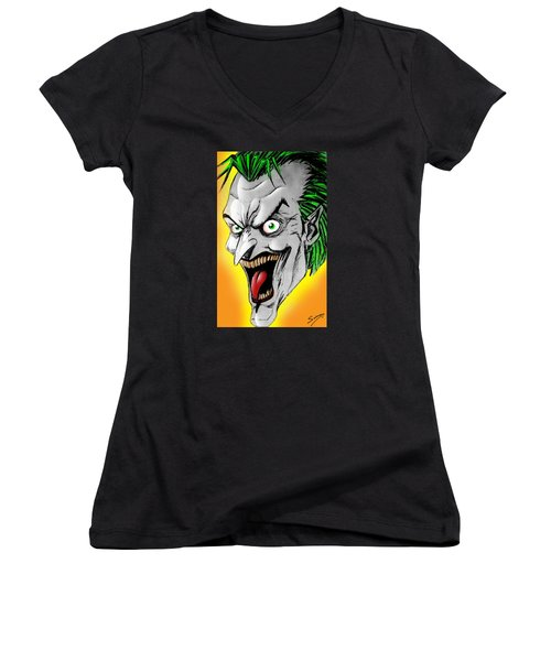 Joker Women's V-Neck T-Shirt (Junior Cut) by Salman Ravish