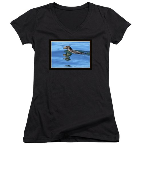 Angry Bird Women's V-Neck T-Shirt (Junior Cut) by BYETPhotography