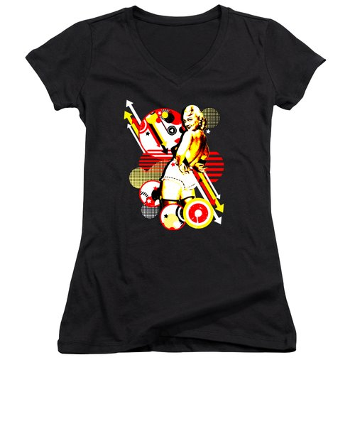 Striptease Women's V-Neck T-Shirt (Junior Cut) by Chris Andruskiewicz