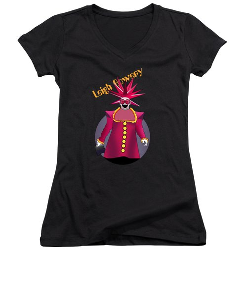Leigh Bowery 4 Women's V-Neck T-Shirt (Junior Cut) by Mark Ashkenazi