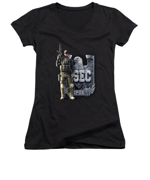 Spectral Dragon Collection Women's V-Neck T-Shirt (Junior Cut) by Celtic Predator