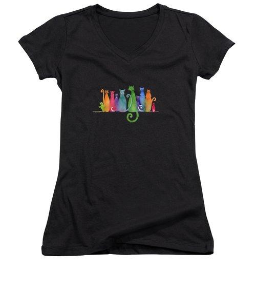 Blended Family Of Ten Women's V-Neck T-Shirt (Junior Cut) by Amy Kirkpatrick