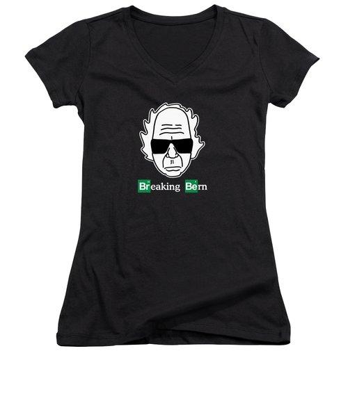 Breaking Bern Women's V-Neck T-Shirt (Junior Cut) by Sean Corcoran