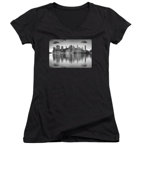 Enchanted City Women's V-Neck T-Shirt (Junior Cut) by Az Jackson