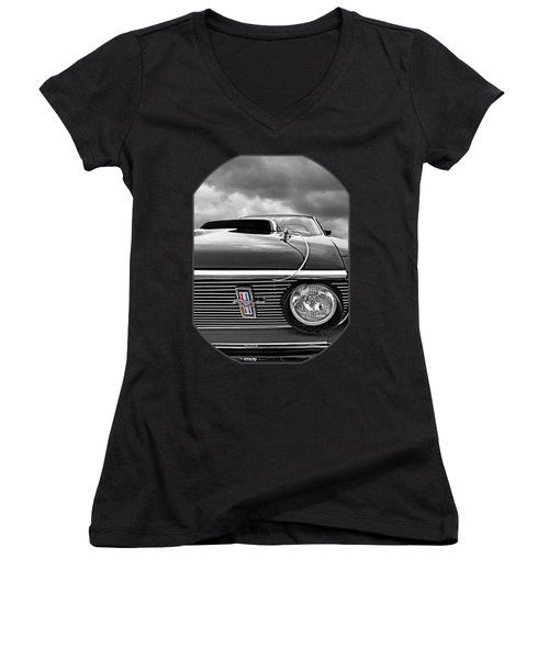 Eye Of The Storm Women's V-Neck T-Shirt (Junior Cut) by Gill Billington