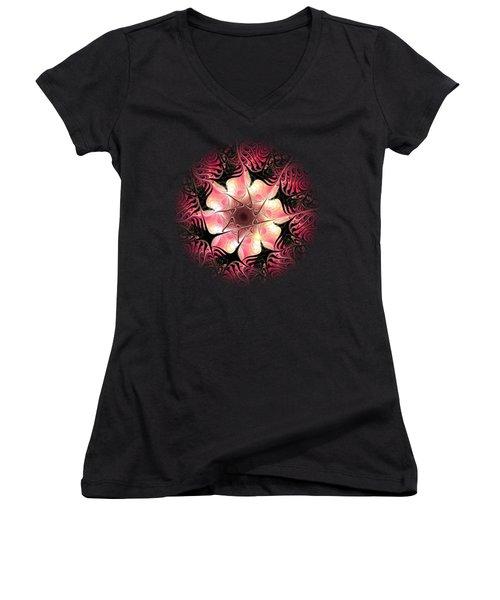 Flower Scent Women's V-Neck T-Shirt (Junior Cut) by Anastasiya Malakhova