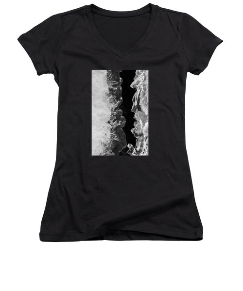 Icy Waves Women's V-Neck T-Shirt (Junior Cut) by Konstantin Sevostyanov