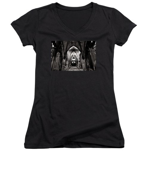 If These Walls Could Talk Women's V-Neck T-Shirt (Junior Cut) by CJ Schmit