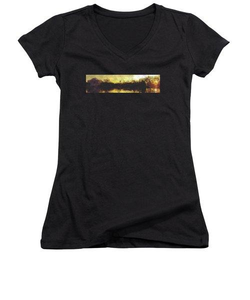 Jefferson Rise Women's V-Neck T-Shirt (Junior Cut) by Reuben Cole