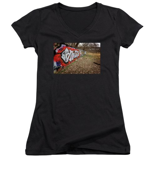 Layers Women's V-Neck T-Shirt (Junior Cut) by CJ Schmit