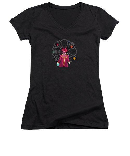 Minimal Space  Women's V-Neck T-Shirt (Junior Cut) by Mark Ashkenazi
