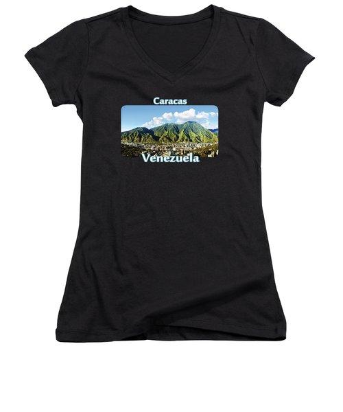 National Park Of El Avila - Caracas - Venezuela Women's V-Neck T-Shirt (Junior Cut) by Alejandro Ascanio