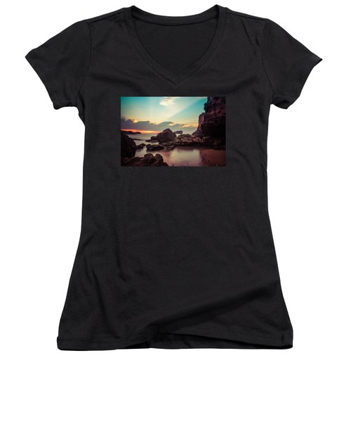 Women's V-Neck T-Shirt (Junior Cut) featuring the photograph New Vision by Thierry Bouriat