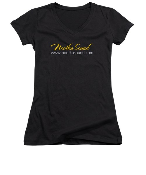 Nootka Sound Logo #5 Women's V-Neck T-Shirt (Junior Cut) by Nootka Sound