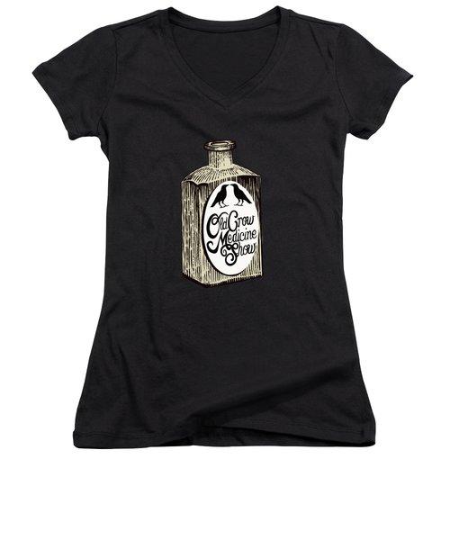 Old Crow Medicine Show Tonic Women's V-Neck T-Shirt (Junior Cut) by Little Bunny Sunshine