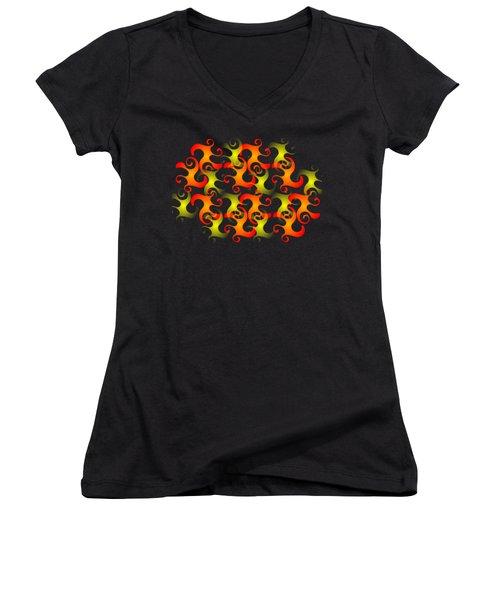 Salamanders Dream Women's V-Neck T-Shirt (Junior Cut) by Anastasiya Malakhova