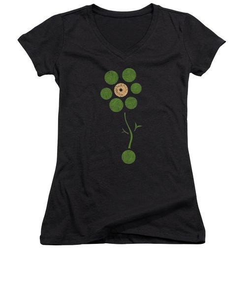 Spring Flower Women's V-Neck T-Shirt (Junior Cut) by Frank Tschakert
