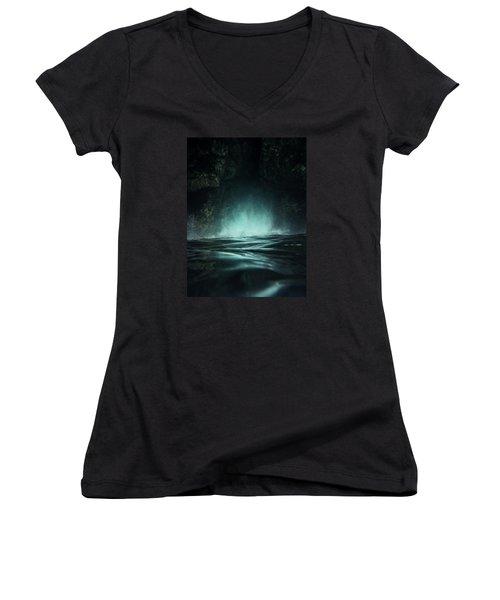 Surreal Sea Women's V-Neck T-Shirt (Junior Cut) by Nicklas Gustafsson