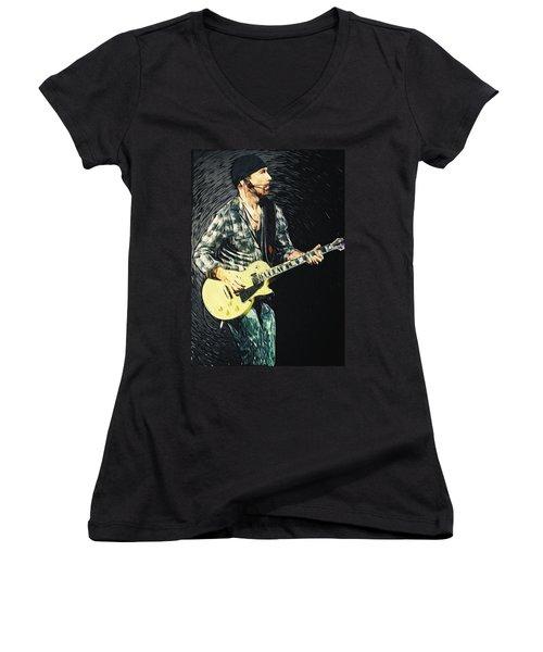 The Edge Women's V-Neck T-Shirt (Junior Cut) by Taylan Apukovska