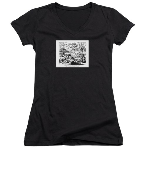 The End Of The Republican Party Women's V-Neck T-Shirt (Junior Cut) by War Is Hell Store