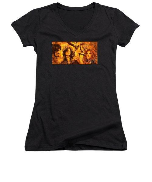 The Legend Women's V-Neck T-Shirt (Junior Cut) by Igor Postash