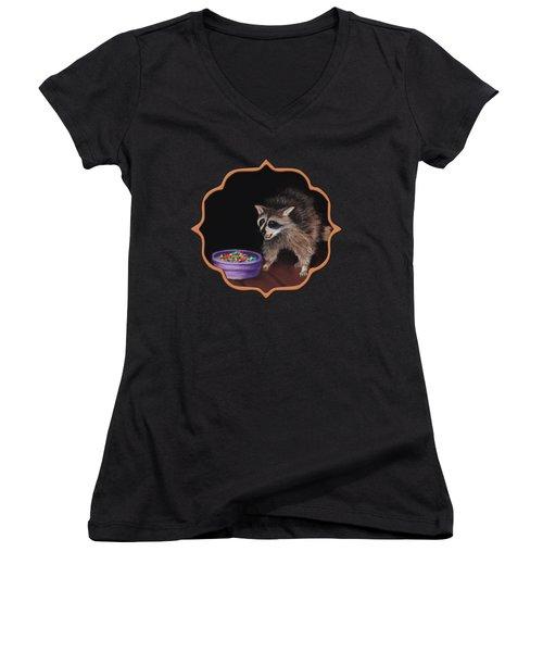 Trick-or-treat Women's V-Neck T-Shirt (Junior Cut) by Anastasiya Malakhova