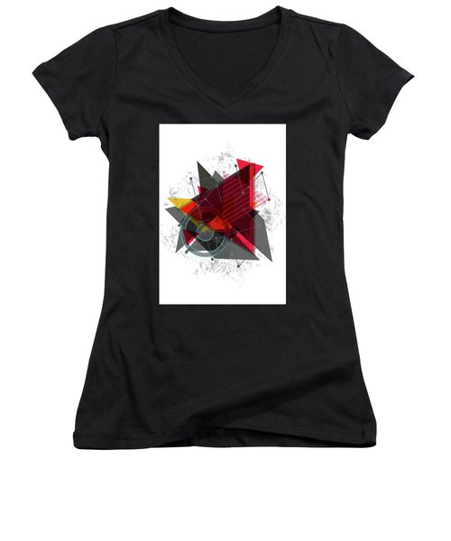 Why Me Women's V-Neck T-Shirt (Junior Cut) by Don Kuing