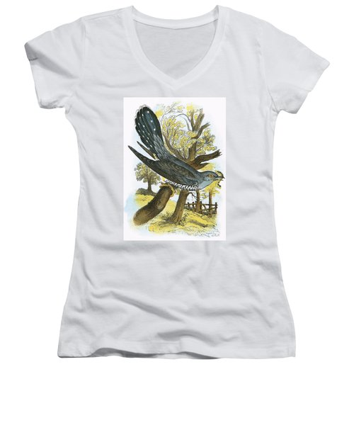 Cuckoo Women's V-Neck T-Shirt (Junior Cut) by English School
