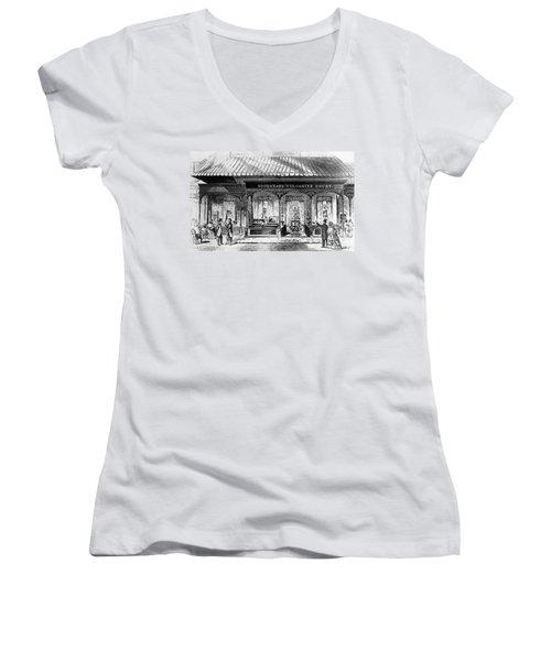 Goodyear Rubber Exhibit Women's V-Neck T-Shirt (Junior Cut) by Underwood Archives