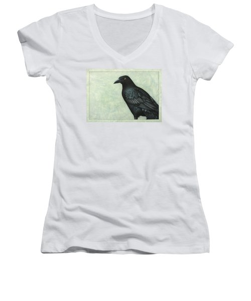 Grackle Women's V-Neck T-Shirt (Junior Cut) by James W Johnson